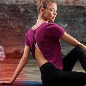 Victoria Sport Fly Away Open Back Tee T-Shirt